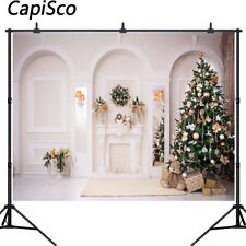 Photography Backgrounds Studio Christmas Tree Decoration Family Party Backdrops