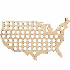 USA Beer Cap Map – Beer cap holder for 70 Bottle caps made from quality birch