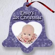 ALBERO di Natale personalizzata Ornamento Decorazione-BELL-Purple Heart foto