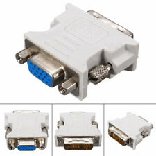 Dvi-D (18+1) Pin Dual Link Male To Vga 15 Pin Female Jack Adapter For Pc Laptop