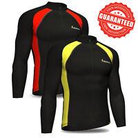 Didoo Men's Cycling jersey long sleeve Thermal Jacket full zip fleece Winter top