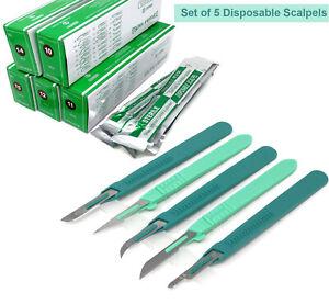 50 Disposable Dermaplaning Scalpels Stainless Steel Blade #10 #11 #12 #14 #15