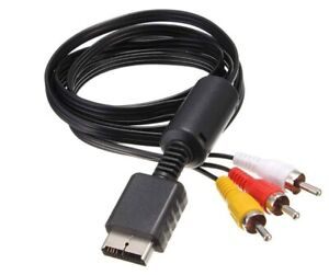 AV CABLES LEADS FOR PLAYSTATION PS1 PS2 & PS3 BRAND NEW 1.8M PLAYSTATION
