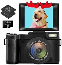 Digital Camera Vlogging Camera with Flip Screen for YouTube 24MP 3.0 Inch...