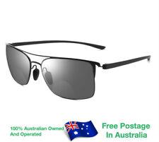 Mens Ladies Magnifying Bifocal Tinted Fashion Reading Glasses Sunglasses Q128BLK