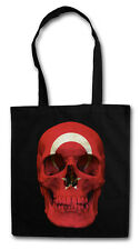 Turkey Skull Flag Hipster BAG-BORSA TESSUTO STOFFA sacchetto sacchetto Iuta-Türkiye NEW