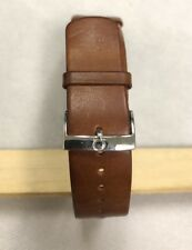 Original Omega 21mm Brown Novonappa Leather Military Watch Strap NATO + Buckle
