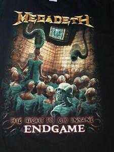 Megadeth Endgame The Right To Go Insane T Tee Shirt m medium