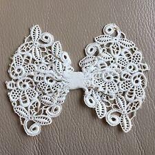 Antique Lace Collar Bow Vintage Edwardian Schiffli White Tie Bridal Wedding Old