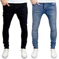 Jack & Jones Men's Glenn Slim Fit Stretch Jeans, Black/Blue
