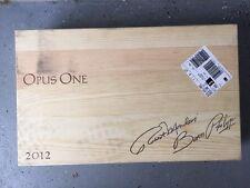 OpusOne - 2012 wooden wine box holds 6 / 750 ml Wine Bottles
