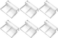 6 Pcs Acrylic Clips Aquarium Fish Tank Glass Cover Clip Lid Holder 6mm POPETPOP