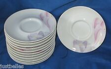 Mikasa VOGUE L1052 Saucers -SET of TWO (2 Purple, Pink flowers *have more items*