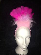 FLAMINGO Rosa Bird Costume Headress Piuma Hairband Costume CIGNO ROSA NUOVA