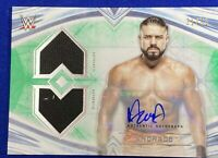 2020 Topps WWE Undisputed ANDRADE  Autograph DUAL MAT SHIRT RELIC 31/50 green