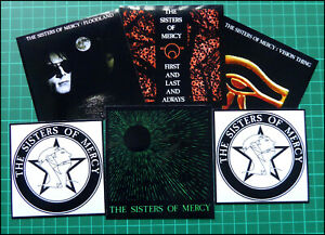 SISTERS OF MERCY, Exclusive Set of SIX Glossy Vinyl Promo Stickers