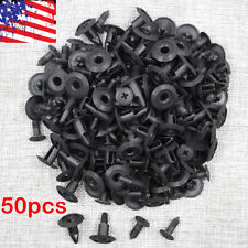 50 x Plastic Rivet Fastener Mud Flaps Fender Push clips 8mm