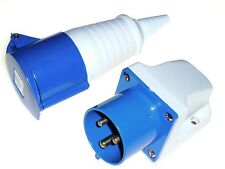 32 amp 3 pin 240V Appliance socket plug + Coupler 240 Volt 32a IP44 Single phase