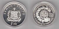SAMOA – SILVER PROOF 10$ TALA COIN 1992 YEAR KM#109 40th ANNI REIGN OF QUEEN