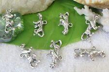 30pcs Tibetan silver leopard charms FC9365