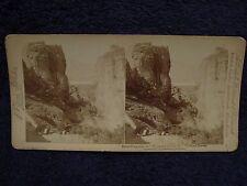 1897 Monastery Meteora INSURGENT &BOYS Greco-Turkish War Greece/Greek Stereoview