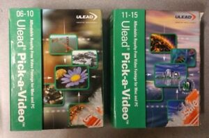 Ulead Pick-A-Video (06-10 & 11-15) 2 Box Set - Royalty Free Video Clips MAC / PC