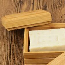 NEW Natural Bamboo Soap Dish Tray Holder Storage Rack Container Home Bathroom