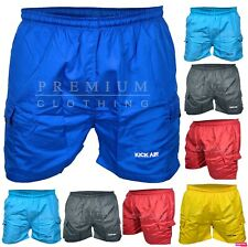 Mens Cargo Swim Shorts Swimming Flap Pockets Trunks Bottoms Swimwear Pants M-2XL