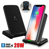 15W Fastest Charging Qi Wireless Charger Pad Stand for iPhone 11 Pro Max XR 8+