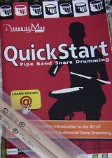 Baterista Mad-libro de inicio rápido del libro Aprender Gaita baterista Tambor Redoblante