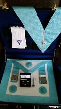 Craft Masonic case set, incl Case, MM Apron, Collar, Gloves and Cufflink set