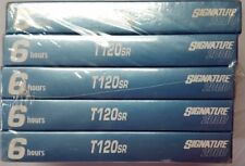 5 Pack T-120sr 6 HR Blank VHS VCR Video Cassette Tapes Signature 2000 418-s23