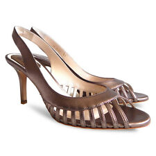 NEW $752 CHRISTIAN DIOR Whisper Slingback Sandals - Bronze Metallic - Size 37.5