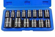 Us Pro 14 Pièces 1.3cm Dr Métrique Léger Impact Douilles Ensemble 10-32mm B1679