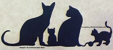 • • •  Die Cuts ~ CATS & KITTENS Border x5 ~ Stampin Up Cardstock ~ Cards