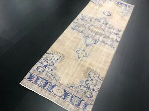 9 ft Turkish Bohemian Decor Hallway Runner Rug, Vintage Decorative Runner, C728