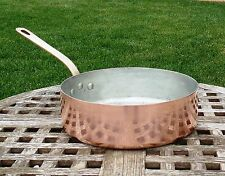 "Williams Sonoma Villedieu Copper 9"" Saute Pan, 1.7 mm, Made in France"