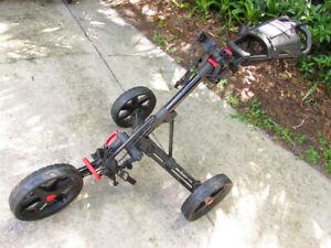 Clicgear push cart 3.0 w bottle holder Caddy Golf trolley Folding Light CLEAN