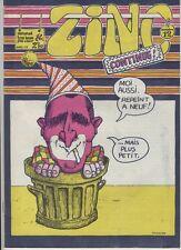 (137) Rare Journal Zinc N°12 de avril 1973