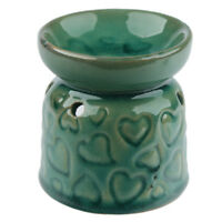 Small Green Hearts Wax Warmer/Burner & pack of 10 Handpoured Scented Melts