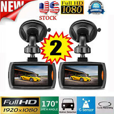 2x Car 1080P 2.4 Full HD DVR Vehicle Camera Dash Cam Video G-sensor Night Vision