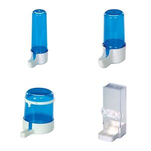 Bird Cage Feeder Bottles & Water Drinker For Finches Canary Budgie - Anti Algae