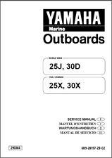 Yamaha 25 30 Hp 2-Stroke Outboard Motors Service Manual CD  -   25J 30D 25X 30X