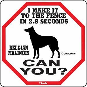 Belgian Malinois 2.8 Fence Dog Sign