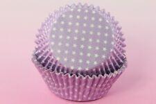 "100ea 2"" Standard Polka Mini Star Cupcake Liner Muffin, Multiple Color Selection"