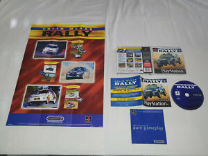 jeu playstation 1 ps1 sony occasion COLIN MCRAE RALLY avec poster