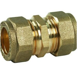 8MM 10MM 15MM 22MM 28M COMPRESSION COUPLING FITTINGS PLUMBING COPPER PIPE UK