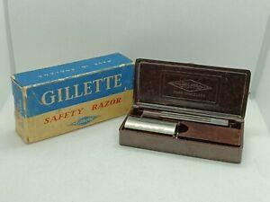 Stunning Vintage Gillette 'No 25' Bakelite Safety Razor Set WW2 Era