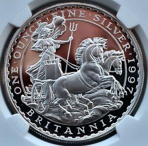 1997 Britannia Silver Proof £2 Two Pound PF70 NGC Ultra Cameo 1oz