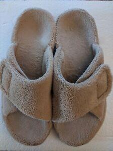 Vionic Women Size 10 Tan Beige Indulge Relax Adjustable Slipper Sandal Tan